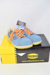 Shoes Accident Prevention Diadora New Color Light Blue N°.37