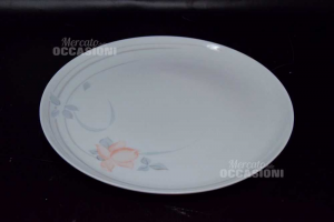 6 Service Plates Plate + 6 Plates From Dessert In Ceramic Made In Poland
