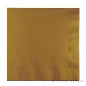 20 pz - Tovaglioli Oro di carta 50° Anniversario Nozze 33x33 cm - Party tavola