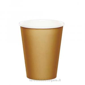 8 pz - Bicchieri color Oro 50° Anniversario Nozze - Party tavola