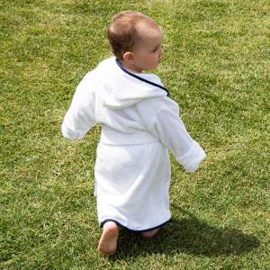 Accappatoio per bambini Personalizzabile - Bianco/Blu