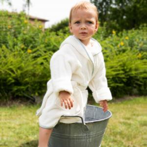 Accappatoio per bambini Personalizzabile - Bianco naturale/Polvere