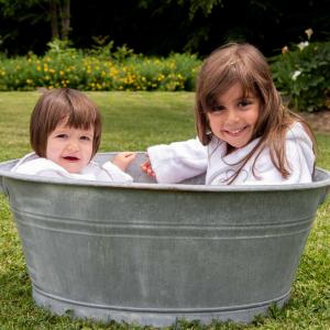 Accappatoio per bambini Personalizzabile - Bianco naturale/Deserto