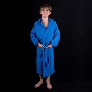 Accappatoio per bambini Spugna Leggera Personalizzabile - Blu elettrico