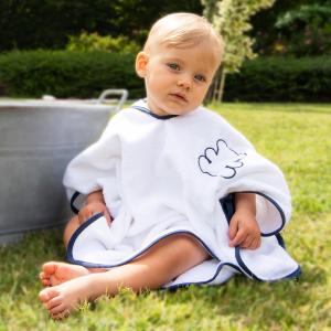 Poncho per bambini Personalizzabile - Bianco/Blu