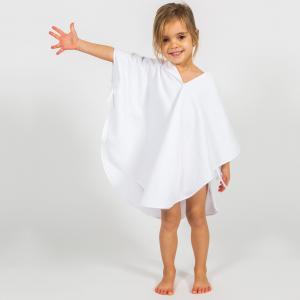 Poncho per bambini Personalizzabile - Bianco/Bianco