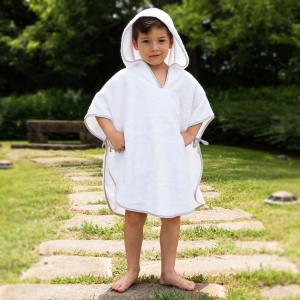 Poncho per bambini Personalizzabile - Bianco naturale/Deserto