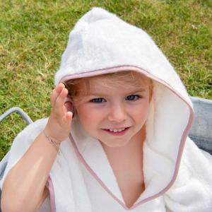 Poncho per bambini Personalizzabile - Bianco naturale/Cipria