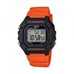 Casio Collection orologio digitale, arancione e nero