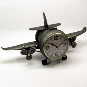 Orologio da tavolo biplano grigio di Mascagni