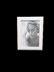 Mascagni cornice portafoto legno bianco 15x20