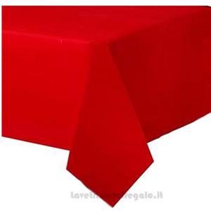 Tovaglia rossa plastificata 140x250 cm - Party tavola