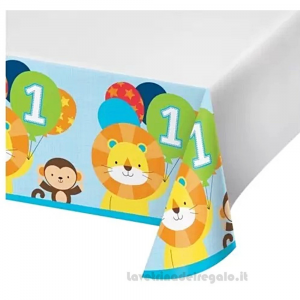 Tovaglia One Is Fun Boy Primo Compleanno bimbo 140x260 cm - Party tavola