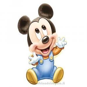Palloncino Foil sagomato Topolino Baby Compleanno bimbo 64x81 cm - Party allestimento