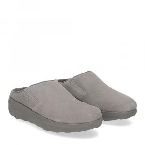 Fitflop Loaf suede clog grey