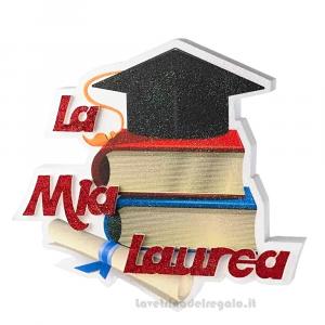 Decorazione Tocco con libri e pergamena Laurea 36x4x36 cm - Party allestimento