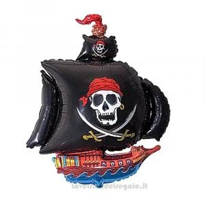 Palloncino Foil Nave dei Pirati Compleanno bimbo 35 cm - Party allestimento