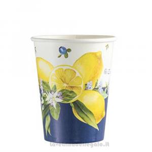 8 pz - Bicchieri Lemon Chic con limoni Matrimonio - Party tavola