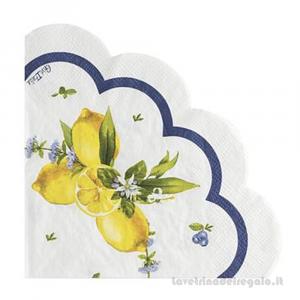 16 pz - Tovaglioli Lemon Chic con limoni Matrimonio 33x33 cm - Party tavola