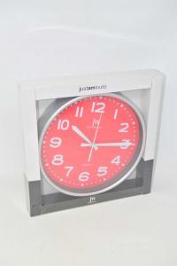 Orologio Justaminute NUOVO Con Quadrante Rosso