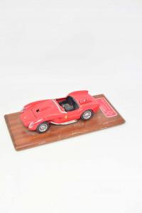 Game Vintage Machine Ferrari Head Red 1957 (defect) - Base Wooden