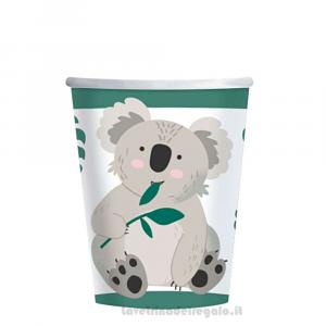 8 pz - Bicchieri Koala Compleanno bimbo - Party tavola