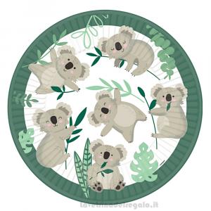 8 pz - Piatti Koala Compleanno bimbo 23 cm - Party tavola