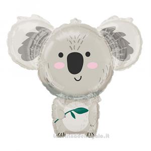 Palloncino Foil sagomato Koala Compleanno bimbo 71x63 cm - Party allestimento