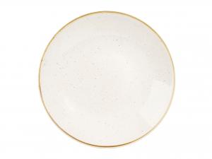 Churchill Stonecast Piatto Fondo, Porcellana, Barl White, Cm 28