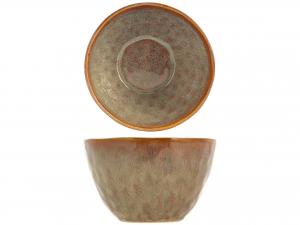 BOWL MYKONOS in stoneware, A 15 cm bruno-rossastro