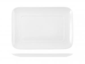 Piatto Rettangolare In Porcellana, 23x16,5 Cm, Bianco