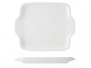 Piatto Rettangolare In Porcellana, 20x16,5 Cm, Bianco