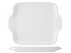Piatto Rettangolare In Porcellana, 30,5x25 Cm, Bianco
