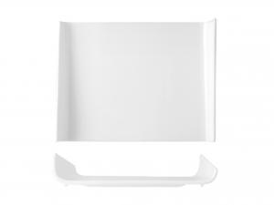 Piatto Quadrato In Porcellana, 25x25 Cm, Bianco