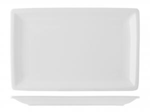 Piatto Rettangolare In Porcellana, 33x21 Cm, Bianco