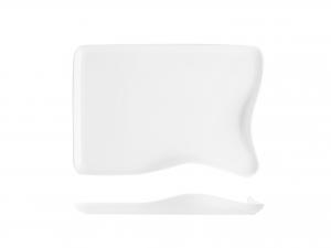 Piatto Rettangolare In Porcellana, 25x16 Cm, Bianco