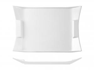Piatto Rettangolare In Porcellana, 25,5x19 Cm, Bianco