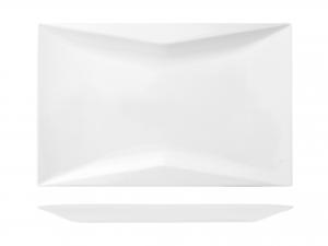 Piatto Rettangolare In Porcellana, 31,5x21 Cm, Bianco