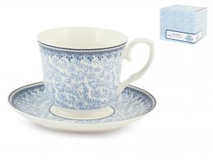 H&h Set 2 Tazze Te Porcellana Blue Dream Con Piattino