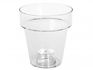 Vaso Per Orchidee Porto Trasparente Cm16