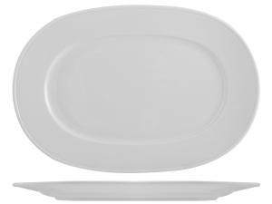 Piatto In Porcellana Merano Bianco Ovale Cm32