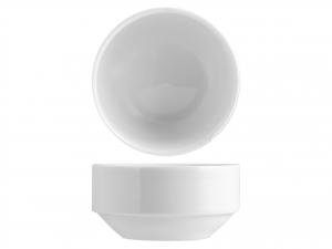 Coppetta Impilabile Porcellana Merano Bianco Cm10