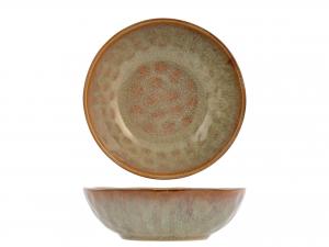 4 Piatti In Stoneware Mykonos Fondo Cm18