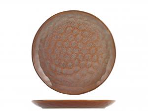 4 Piatti In Stoneware Mykonos Frutta Cm22