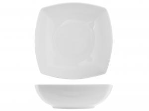 Insalatiera Quadrata In Porcellana, 23x23 Cm, Bianco