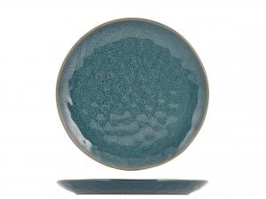 4 Piatti In Stoneware Mykonos Blu Frutta 22