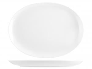 Piatto In Porcellana Royal Zen Bianco Ovale 33