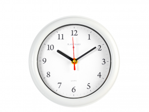 Orologio Parete Tondo Bianco  Cm20,5 882