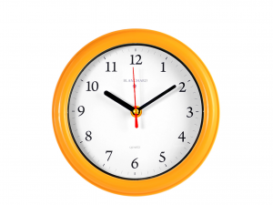 Orologio Parete Tondo Arancio 20,5 882