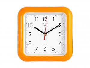 Orologio Parete Quadro Arancio Cm22 883